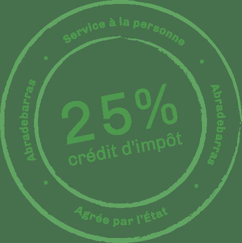 Crédit d'impôt 25%