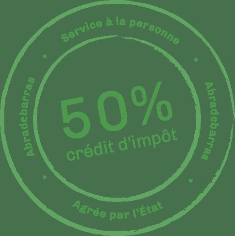 Crédit d'impôt 50%